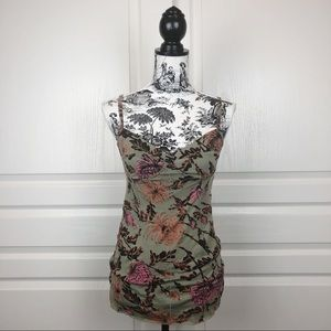 ARITZIA WILFRED Bardot Floral Bustier Camisole